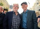 (左から)ジョージ・ルーカス、ロン・ハワード監督(5月10日開催のワールドプレミアで撮影)(C)2018 Getty Images