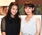 日豪合作映画『STAR SAND ─星砂物語─』のトークイベントに出席した(左から)織田梨沙と吉岡里帆 (C)ORICON NewS inc.