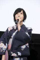劇場アニメ『あさがおと加瀬さん。』初日舞台あいさつに出席した佐倉綾音