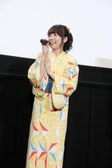 劇場アニメ『あさがおと加瀬さん。』初日舞台あいさつに出席した木戸衣吹