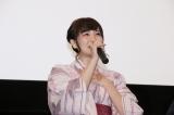 劇場アニメ『あさがおと加瀬さん。』初日舞台あいさつに出席した高橋未奈美