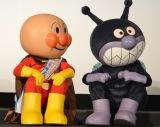 (左から)アンパンマン、ばいきんまん=映画『それいけ!アンパンマン かがやけ!クルンといのちの星』完成披露舞台あいさつ (C)ORICON NewS inc.
