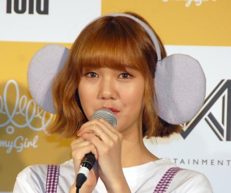 ミミ=「OH MY GIRL BANHANA」日本デビュー記者会見よ (C)ORICON NewS inc.