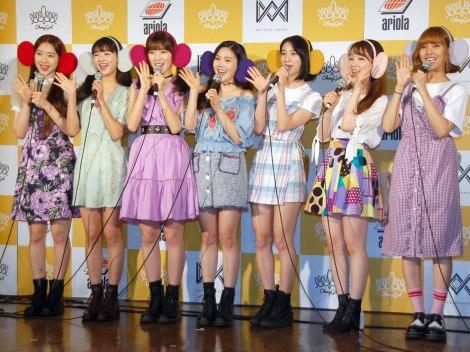 OH MY GIRL 派生ユニットOH MY GIRL BANHANA=「OH MY GIRL BANHANA」日本デビュー記者会見 (C)ORICON NewS inc.