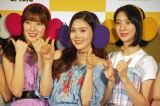 (左から)アリン、ヒョジョン、ビニ=「OH MY GIRL BANHANA」日本デビュー記者会見の模様 (C)ORICON NewS inc.