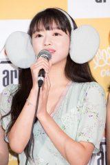 ユア=「OH MY GIRL BANHANA」日本デビュー記者会見の模様