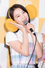 ビニ=「OH MY GIRL BANHANA」日本デビュー記者会見の模様