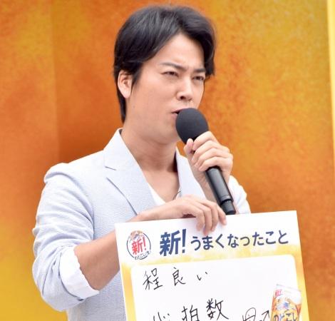 『新!のどごし<生>号全国出陣式』イベントの模様 (C)ORICON NewS inc.