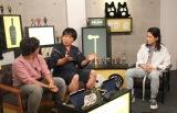 AbemaTV『声優と夜あそび』金曜MCの(左から)佐藤拓也、関智一とゲストの半田健人 (C)ORICON NewS inc.