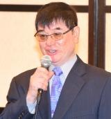 宮里藍の引退会見に出席した父・宮里優氏 (C)ORICON NewS inc.