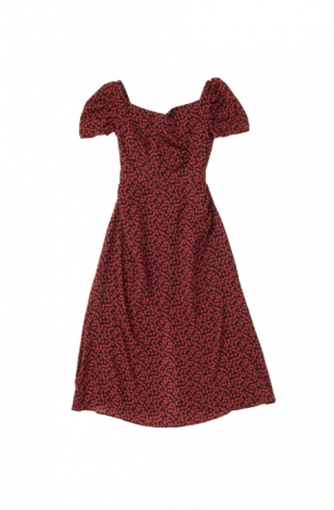Cherry Pattern Cache-Coeur One-Piece