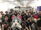 5人組アイドルグループ・Wi-Fi-5と一緒に、タイ・バンコクで「アニメイト バンコク店1日店長を務めたチー
