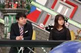 22日放送の『全力!脱力タイムズ』に出演する(左から)NON STYLEの井上裕介、大原櫻子(C)フジテレビ