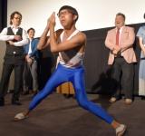千葉市地域発信型映画『空からの花火』初日舞台あいさつに出席したひょっこりはん (C)ORICON NewS inc.