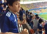 6月19日、『2018FIFAワールドカップロシア』日本×コロンビア戦を観戦する勝村政信(C)テレビ東京