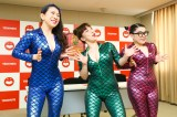 爆乳三姉妹(左から服部ひで子、森田まりこ、岡田直子)