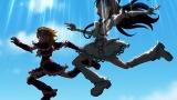 第21話(6月24日放送)のラストで突然、空から降ってきたキュアブラックとキュアホワイト(C)ABC-A・東映アニメーション