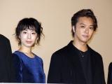 ショートフィルム『カナリア』舞台あいさつに登壇した(左から)夏帆、TAKAHIRO (C)ORICON NewS inc.