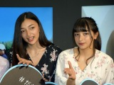 『Tik Tok Gallery』のオープニングイベントに登壇したエリカ(左)&マリナ(C)ORICON NewS inc.