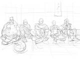 """「県大会""""決戦前夜""""特大ポスター」のラフ画 (C)井上雄彦 I.T.Planning,Inc."""