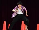 横浜は体育部門の反復横跳び対決=映画『虹色デイズ』に公開直前イベント (C)ORICON NewS inc.