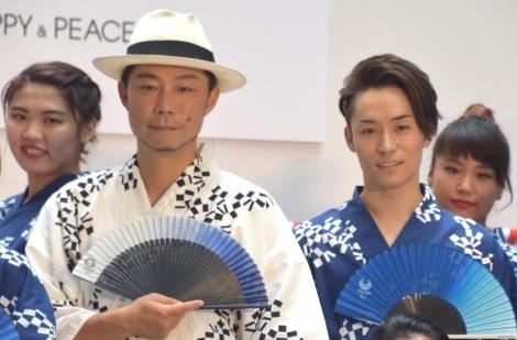 東京五輪への期待を語ったEXILE(左から)USA、TETSUYA =『TOKYO2020と祭りでつながろう』発表会 (C)ORICON NewS inc.
