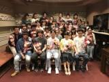 アフレコに参加した声優陣の集合写真(C)麻生周一/集英社・PK学園2