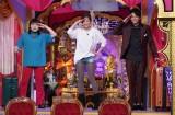 27日放送の日本テレビ系バラエティー『今夜くらべてみました』に出演する(左から)ブルゾンちえみ、沢尻エリカ、森崎ウィン (C)日本テレビ