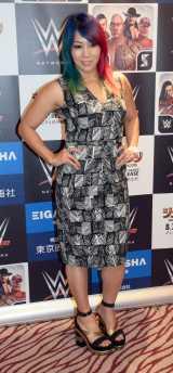日本公演前に新喜劇でリフレッシュしたと話すWWEの日本人スーパースター・アスカ=WWE日本公演『WWE Live Japan』取材会 (C)ORICON NewS inc.