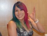 インタビューを受けるWWEの日本人スーパースター・アスカ=WWE日本公演『WWE Live Japan』取材会 (C)ORICON NewS inc.