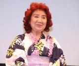 アニメ映画『劇場版ポケットモンスター みんなの物語』完成披露試写会に出席した野沢雅子