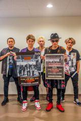 全国ツアー『FLOW 15th Anniversary TOUR 2018「アニメ縛り」』ツアーファイナル(左よりGOT'S、KEIGO、IWASAKI、KOHSHI、TAKE)