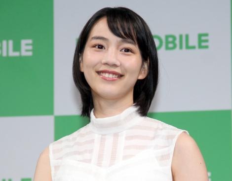 2018年下半期の女優活動に前向きなのん=『LINEモバイル』記者発表会(C)ORICON NewS inc.