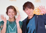 国産麦アンテナショップ『むぎくらべ』オープニングイベントに出席した(左から)スザンヌ、杉浦太陽 (C)ORICON NewS inc.