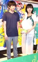 映画『ルームロンダリング』トークイベントに参加した(左から)羽賀翔一氏、池田エライザ (C)ORICON NewS inc.