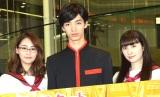 ドラマ25『インベスターZ』記者会見に出席した(左から)柳美稀、清水尋也、早見あかり (C)ORICON NewS inc.