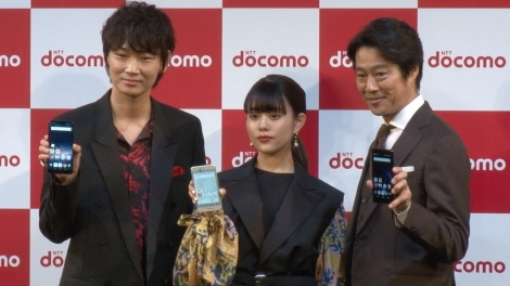 会見に登場した(左から)綾野剛、高畑充希、堤真一 (C)ORICON NewS inc.