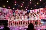7月6日、テレビ朝日系『ミュージックステーション』2時間SP出演前にリハーサルするモーニング娘。'18(C)テレビ朝日