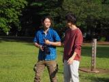 都内の公園で撮影中の2人 (C)ORICON NewS inc.