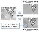 画像サイズ拡大によるモアレの課題を解説 (C)共同印刷
