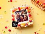 『PICTCAKE』はケーキの表面に写真をプリント
