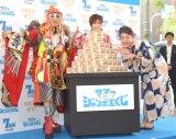 (左から)YU-KI、DJ KOO、横澤夏子 (C)ORICON NewS inc.