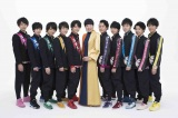 フジテレビ系音楽特番『FNSうたの夏まつり』に出演する和田アキ子 with BOYS AND MEN 研究生