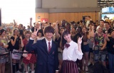 『Japan EXPO2018』に参加した(左から)佐野勇斗、中条あやみ (C)2018 映画「3D彼女 リアルガール」製作委員会(C)那波マオ/講談社