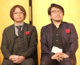 『第42回講談社漫画賞』贈呈式に出席した(左から)大暮維人氏、森高夕次氏 (C)ORICON NewS inc.