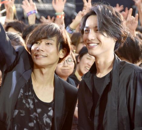 映画『BLEACH』のイベントに出席した(左から)川上洋平、福士蒼汰 (C)ORICON NewS inc.