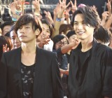 (左から)川上洋平、福士蒼汰=映画『BLEACH』イベント (C)ORICON NewS inc.