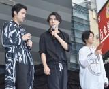 (左から)小柳友、福士蒼汰、早乙女太一=映画『BLEACH』イベント (C)ORICON NewS inc.