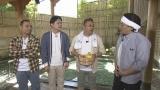 『サンドのお風呂いただきます』NHK総合で7月12日放送。サンドウィッチマンと千鳥、湯河原の老舗旅館の露天風呂前で(C)NHK