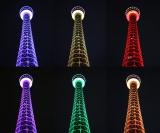 7月11日夜、横浜マリンタワーがインフィニティ・ストーンの6色に輝く(イメージ画像)